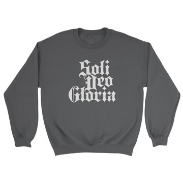 Soli Deo Gloria (Blackletter) - Crewneck Sweatshirt
