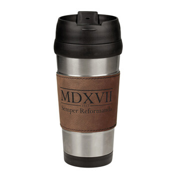 Semper Reformanda - 1517 Roman Numerals  Leatherette Stainless Steel Travel Mug