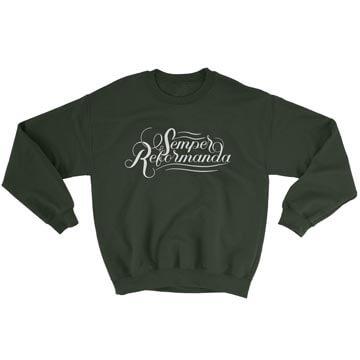 Semper Reformanda (Calligraphy) - Crewneck Sweatshirt
