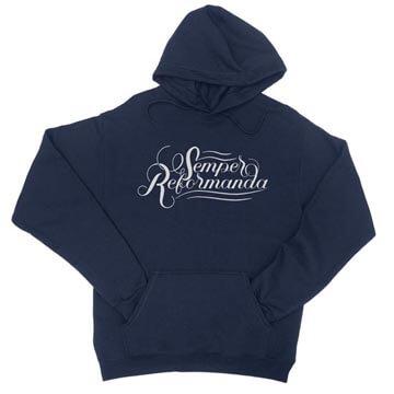 Semper Reformanda (Calligraphy) - Hoodie