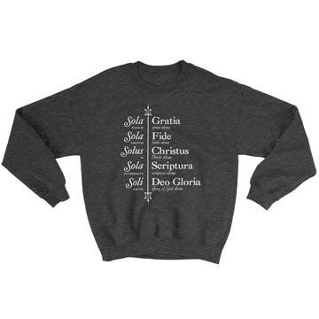 The Five Solas (Trident) - Crewneck Sweatshirt