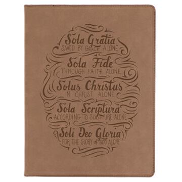 Five Solas Hand Lettered Portfolio Cover