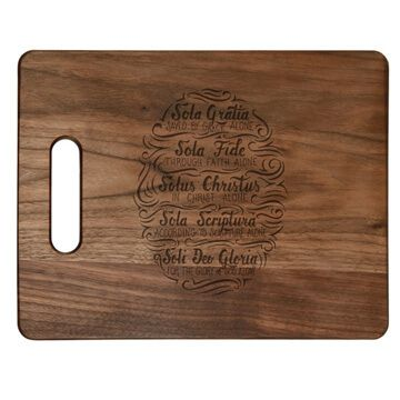 Five Solas Hand Lettered Cutting Board