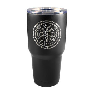 Sola Gratia Badge Insulated Tumbler