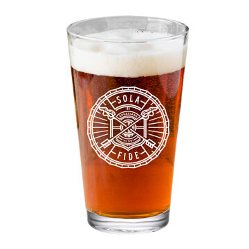 Sola Fide Pint Glass