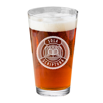 Sola Scriptura Pint Glass