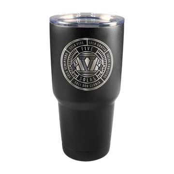 The Five Solas Badge Insulated Tumbler