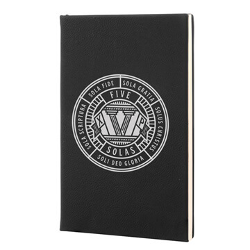 The Five Solas Badge Leatherette Hardcover Journal
