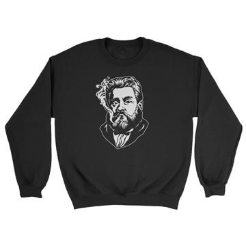 Charles Spurgeon Smoking a Cigar - Crewneck Sweatshirt