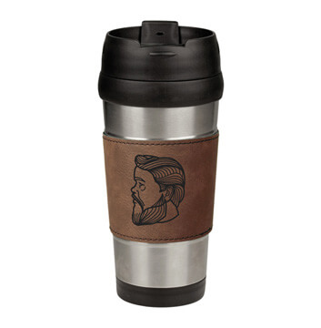 Charles Spurgeon Leatherette Stainless Steel Travel Mug
