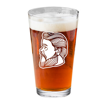 Charles Spurgeon Profile Pint Glass