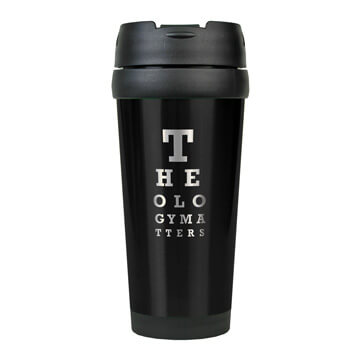 Theology Matters (Eye Chart) Stainless Steel Travel Mug