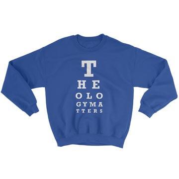 Theology Matters (Eye Chart) - Crewneck Sweatshirt