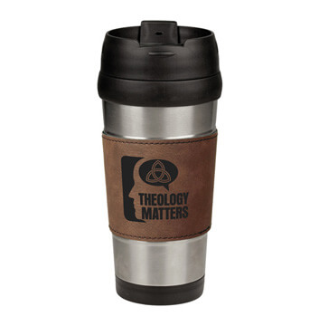 Theology Matters (Think) Leatherette Stainless Steel Travel Mug