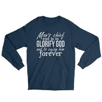 Glorify God and Enjoy Him - Long Sleeve Tee