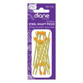 "Diane 2 1/2"" Steel Shaft Picks Amber 12 Pack"