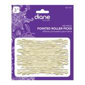 "Diane 3"" Pointed Roller White 100 Pack"