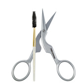 Tweezerman Professional Stainless Brow Shaping Scissors and Brush
