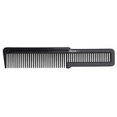 "Diane 7.5"" Flat Top Comb-Black"