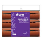 "Diane Cold Wave 1 1/2"" Rods - 6 Pack-Brown"