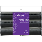 """Diane Cold Wave 1 1/4"""" Rods - 6 Pack-Black"""