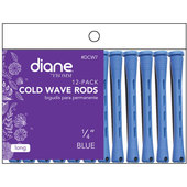 """Diane Cold Wave 1/4"""" Rods - 12 Pack-Blue"""