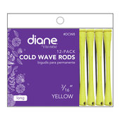 "Diane Cold Wave 3/16"" Rods - 12 Pack-Yellow"