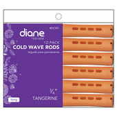"Diane Cold Wave 3/4"" Rods - 12 Pack-Tangerine"