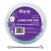 """Diane Jumbo 3"""" Bobby Pins - Black-100 ct."""