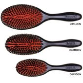Denman Cushion Natural Bristle with Single Nylon Quill Grooming Brush