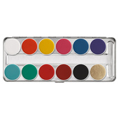 Kryolan Aquacolor Palette 12 Color-FP