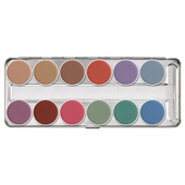 Kryolan Aquacolor Palette 12 Color-P