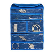 Hagerty Hanging Jewelry Keeper 21.5 x 15 - 35 Pkts w/Zippers and Non-Tarnishing Cloth