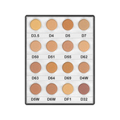 Kryolan Dermacolor Camouflage Creme Mini Palette 16 Colors-Medium
