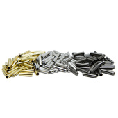 Aglet Kit - Metal Plated Wide Bullet Cylinder-w/Super Glue-4 ct