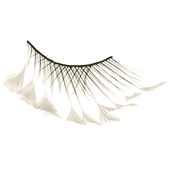 Monda Studio Criss Cross w/White Feathers Lashes