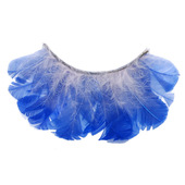 Monda Studio Blue Feather w/White Lashes