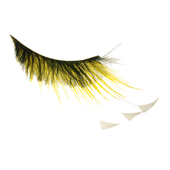 Monda Studio Yellow w/White Feather Tip Lashes