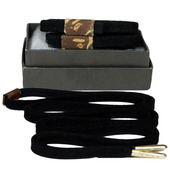 Mateo Designer Laces - Suede-Black Bape