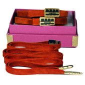 Mateo Designer Laces - Suede-Orange