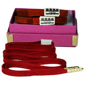 Mateo Designer Laces - Suede-Red