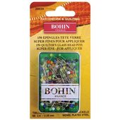 "Bohin France 3/4"" Glasshead Pins - Multi Color-150 ct"