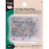 "Dritz Multi Colored Ball Point Straight Pins (Size 17 - 1 1/16"" - 175ct.)"