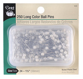 "Dritz Quilter's White Ball Head Straight Pins (Size 1½"" long - 250ct.)"