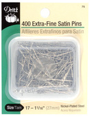 "Dritz Silk Straight Pins (Size 17 1- 1/16"" long - 400ct.)"