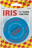 "Iris Super Fine Straight Pins - Imported (Size 20 - 1¼"")"