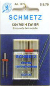 Schmetz Machine Needles - Extra-Wide Twin Needle (Size 60/100)