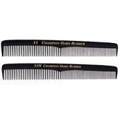 "Champion 7"" Fine/Coarse Teeth Styling Comb - Black"