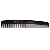 "Champion 7"" Round Back Marceling Comb - Black"