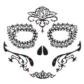 Face Lace Masks - Day Of The Dead Rosa